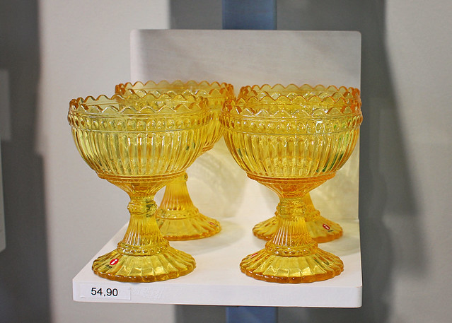 yellow ittala glass