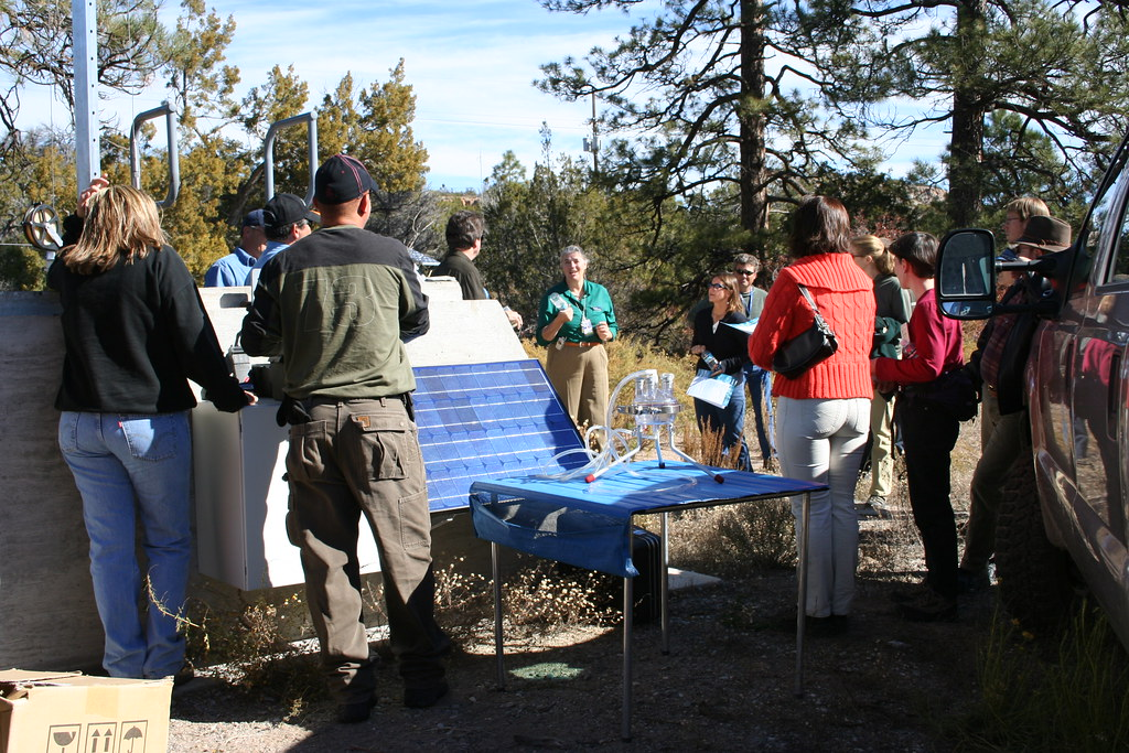 Water sampling tour for the Association of Experiential Education