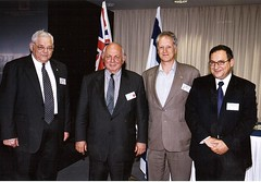 אורחי לשכת המסחר האוסטרלי בישראל עם בארי בן זאב
