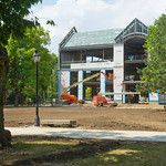 12-07-03 -- JULY 2012: The quad has been graded for reseeding after the installation of a geothermal well field for the new classroom building.