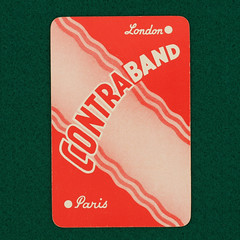 Contraband - playing card