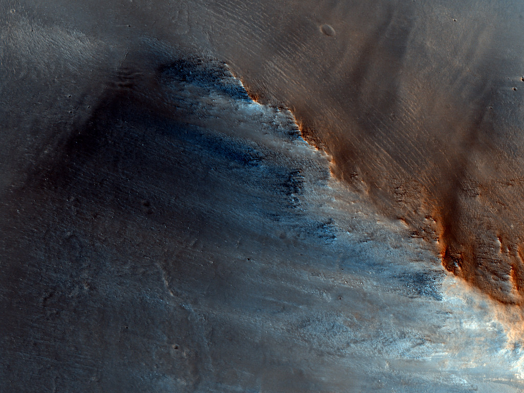 Dark Spot on Mars (NASA, Mars, 2009)