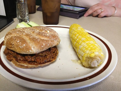 Barbecued Ground Beef Sandwich