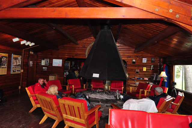 The only restaurant for meal [Katmai National Park]