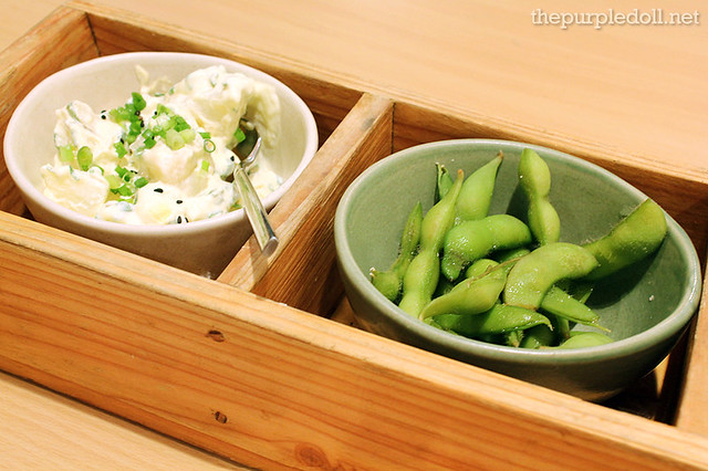 Potato Salad and Edamame Beans