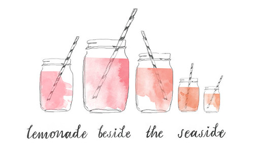 lemonade beside the seaside blog header