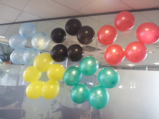 Olympic Rings in Balloons