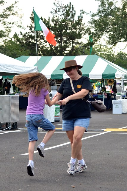 Dancing at the Festival