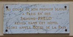 Photo of Sigmund Freud white plaque
