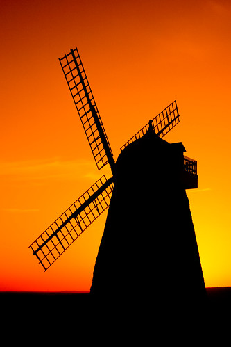 sunset orange windmill silhouette yellow sussex day 100v10f clear halnaker