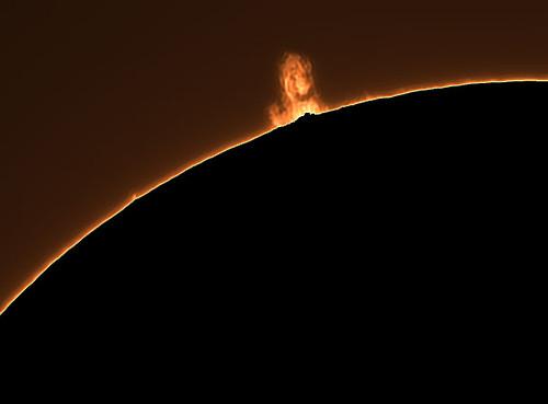 Protuberancia solar con la DMK21