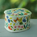vintage bird and flower tin