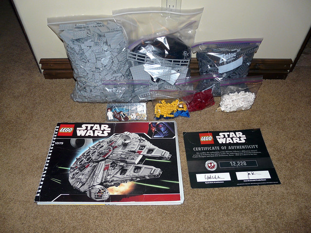 Ultimate Collectors Lego Millennium Falcon Set On Sale On Ebay