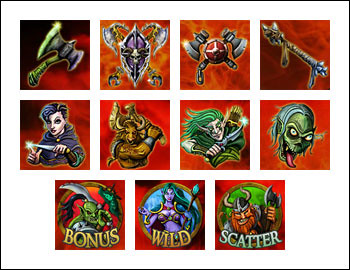 free Crusade of Fortune slot game symbols