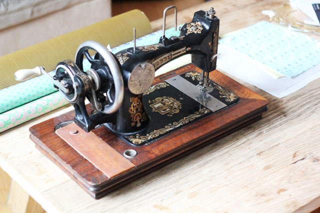 Vintage old sewing machine