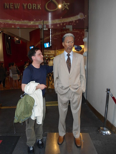 Morgan Freeman, Madame Tussauds New York, Times Square 2012, USA - www.meEncantaViajar.com by javierdoren