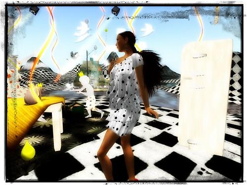 Bubblez - Angela Ruffle Dress (mesh) by Cherokeeh Asteria
