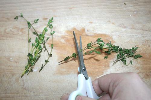 20 - Thymian schneiden / Cut thyme