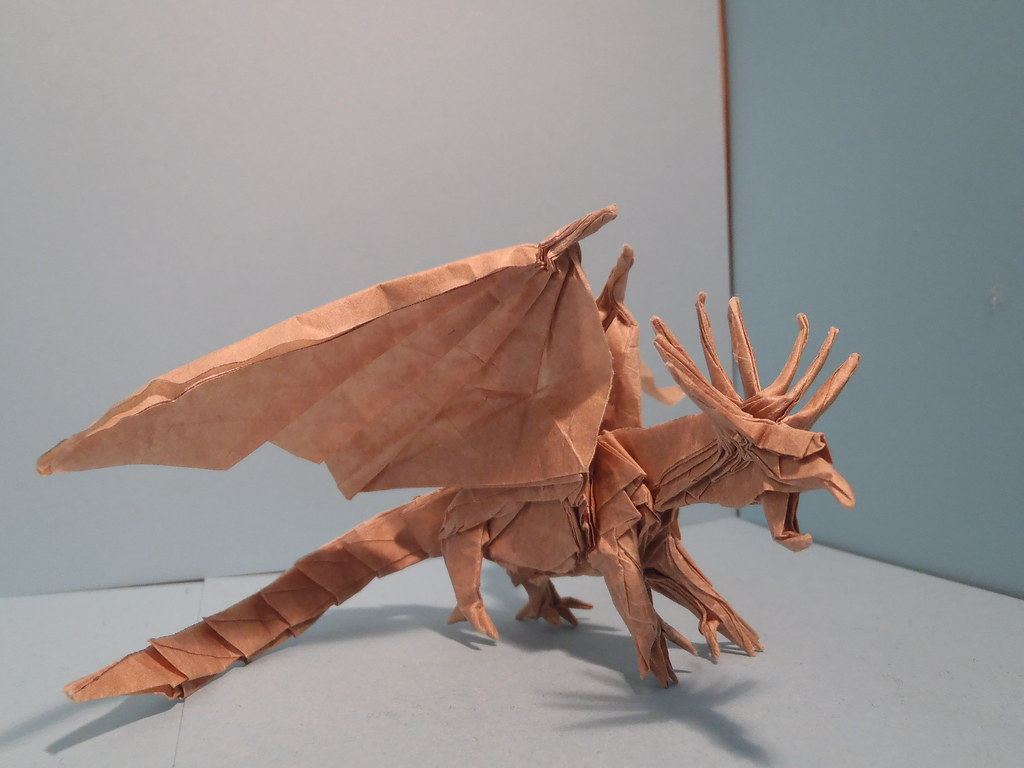 Flickr Photos Tagged Loganorigami Picssr Fearsome Ancient Dragon Designed By Satoshi Kamiya No Online Diagrams Origami