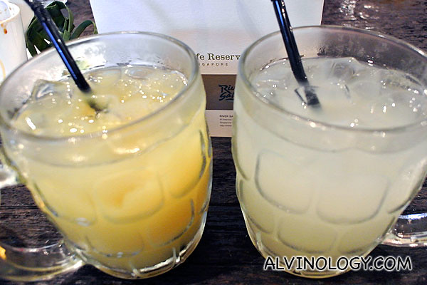 Pineapple juice and lime juice