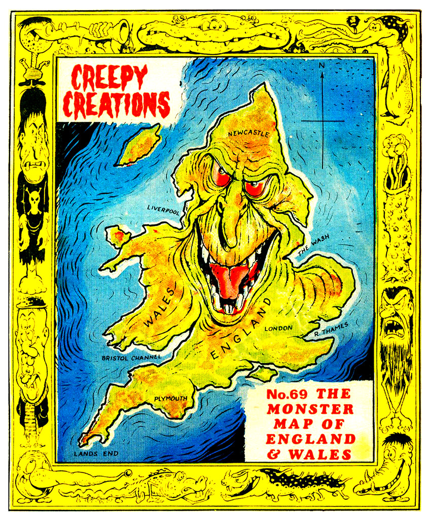 Creepy Creations No.69 - The Monster Map Of England And Wales