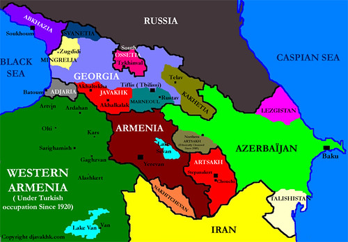 South Caucasus Map