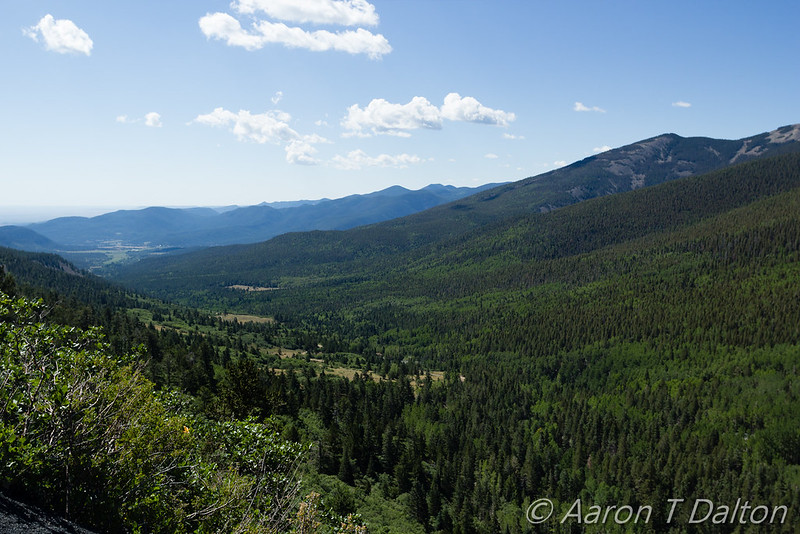 Looking Down Valley Before Baldy Town