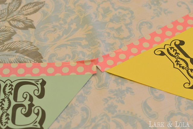 No-Sew Party Banner Tutorial