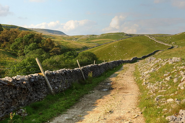 limestone scenery in the yorkshire dales