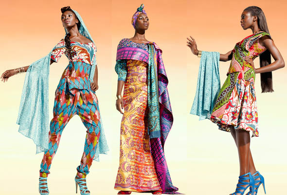 Get that lavish look with paisley patterns in bright colors and vibrant floral fabrics by Vlisco