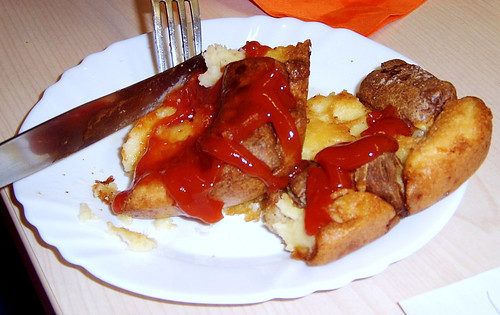 Toad in the Hole with Heinz Tomato Ketchup