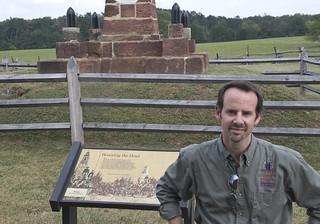 Image of First Manassas Monument near Sudley. honoringthedead roncogswell manassasnationalbattlefieldparkva civilwartrust historiangarryadelman honoringthedeadcivilwarhistoriangarryadelmanatthefirstbullrunmonumentmanassasnationalbattlefieldparkvaaugust212012 honoringthedeadcivilwarhistoriangarryadelmanatthefirstbullrunmonumentmanassasnationalbattlefieldparkva thefirstbullrunveteransmonumentmanassasva