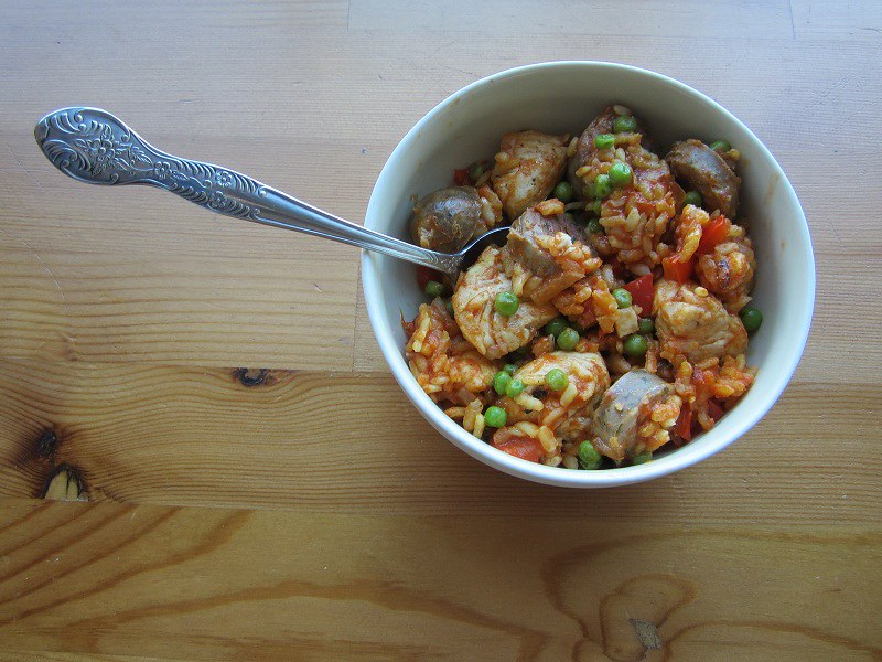 Paella, no seafood
