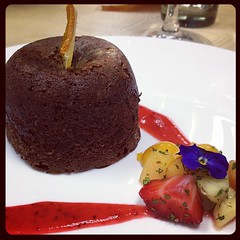 Chocolate fondant baked at the #cookalong evening hosted by Foodiction & Lifeology.