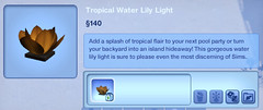 Tropical Water Lily Light