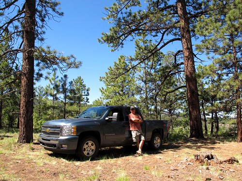 trees wild sky selfportrait newmexico southwest me nature forest truck outdoors solitude escape 4wd dude adventure sp exploration northslope primitive selfie cibolanationalforest chevysilverado ponderosapines mounttaylor doingmything sanmateomountains zoniedude1 outintheboonies sanmateocanyon canonpowershotg11 tsoodził z714x4 9100ftelevation seekingfunandadventure