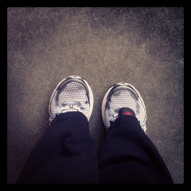 These shoes took me 5 miles today! Go shoes!