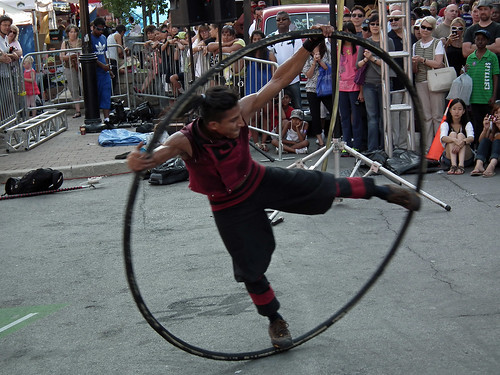 Pancho Libre Performance at Toronto Buskerfest 2012