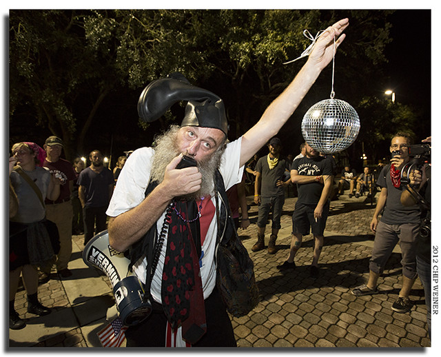 Vermin Supreme does his rendition of the disco classic