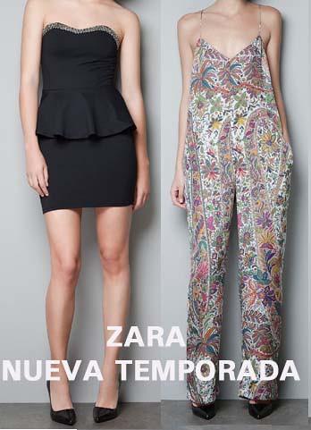Vestido Peplum y mono de Zara 2012