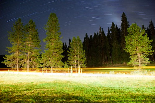 Exodus (Wawona Headlight and Star Trails), Yosemite by flatworldsedge