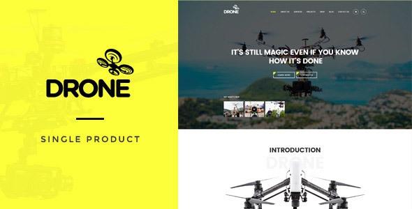 Drone v1.0 - Single Product WordPress Theme