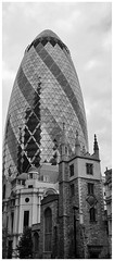 St Andrew Undershaft - so-called because it used to stand by a tall maypole, it is now dwarfed by the nearby Gherkin.
