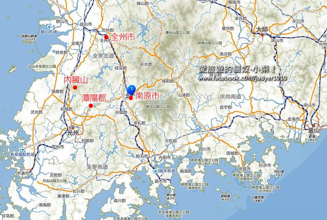 南原市附近地圖