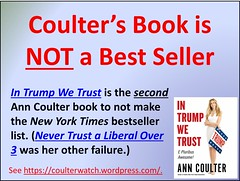 Coulter's Book is NOT a Best Seller