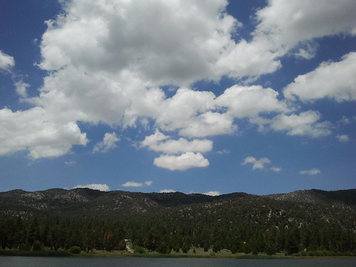 Fluffy Clouds Over Big Bear Lake by Jodi K.