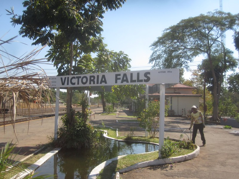 Vic Falls Train Station Zimbabwe Africa
