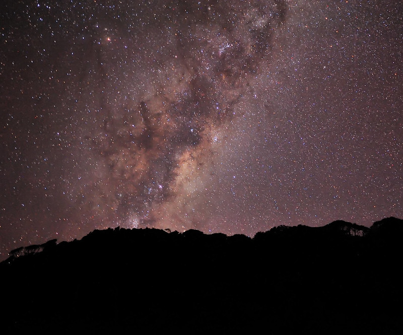Southern Paparoa Range at Night