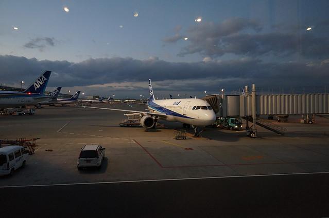 飛行機での旅行