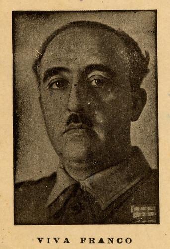Franco en una postal de época